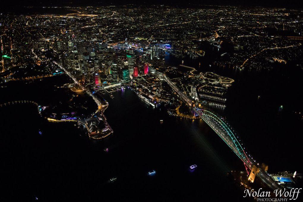 Aerial view of Vivid Sydney 2016 (AA5410)