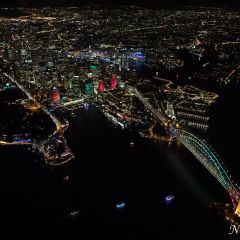 Aerial view of Vivid Sydney 2016 (AA5410)