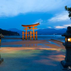 Sunset at Itsukushima Shrine (454F42464)