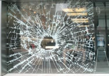 apple store fake broken glass