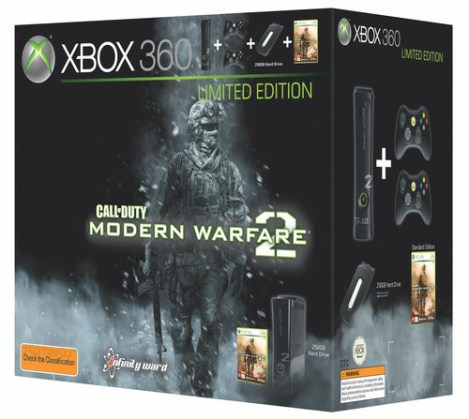 modern warfare-2 xbox 360 console box