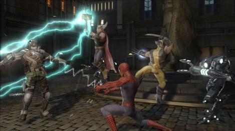 Thor, Spiderman y Wolverine