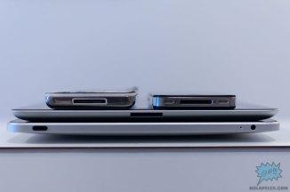 De arriba abajo, iPod 5G (clásico) y iPhone 4, iPad 2, iPad 1
