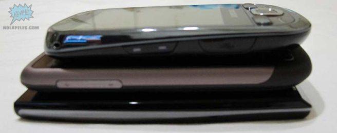 De arriba abajo: Samsung Galaxy Europa, HTC Desire, Sony Ericsson Xperia X10