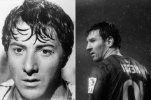 Dustin Hoffman y Lionel Messi
