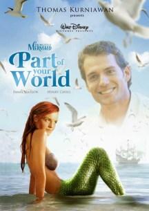 Emma Watson como Ariel y Henry Cavill como Eric