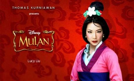 Lucy Liu como Mulán
