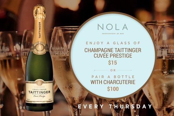Champagne Taittinger Sydney NOLA Bar Barangaroo