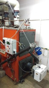kocioł 1000kW z palnikiem na pellet w układzie zamkniętym pod ndzorem UDT