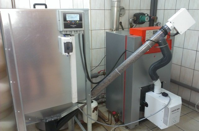 Modernizacja kotła olejowego z palnikiem na pellet