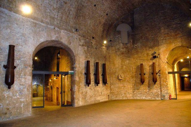 L'ingresso della Rocca Paolina a Perugia