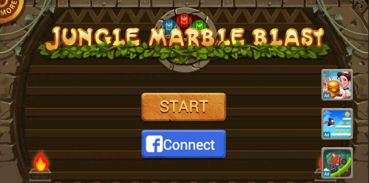 لعبة Jungle Marble Blast