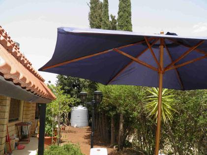how to fix a broken garden umbrella
