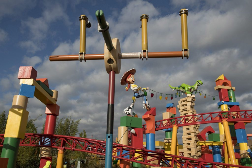 Slinky Dog Dash roller coaster at Disney World's Hollywood Studios