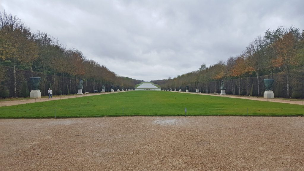 Versailles gardens in winter