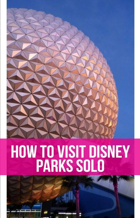 Tips and tricks or visiting Disney parks solo from a former Cast Member. Disney World | Epcot | Magic Kingdom | Disneyland | Disney solo