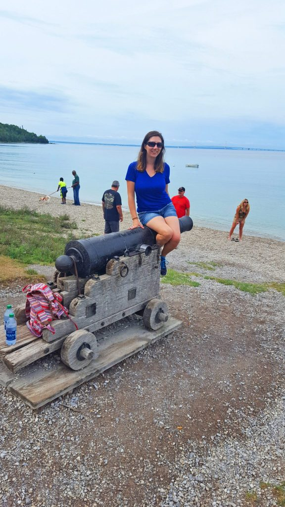Cannon on the beach on Mackinac Island