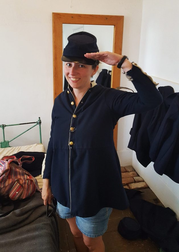 Military uniform in Fort Mackinac