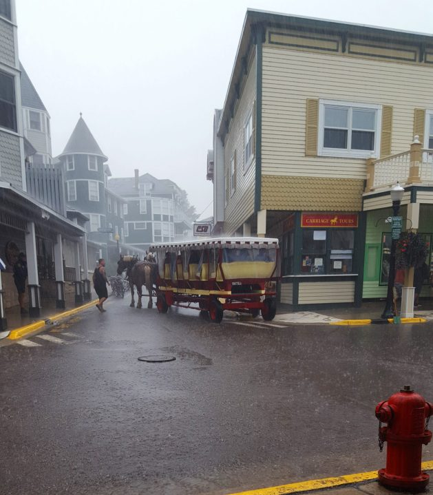 Carriage accident on Mackinac Island
