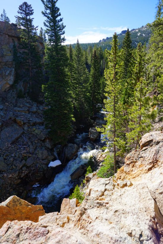 Gorge along the Alberta Falls Trail in Rocky Mountain National Park