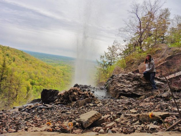 Minelot Falls in Thacher State Park