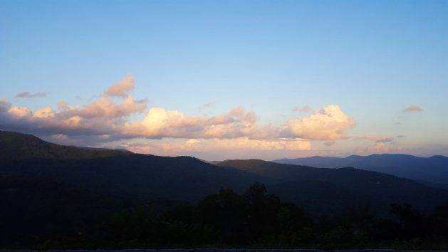 Blue Ridge Parkway sunset in Asheville, NC