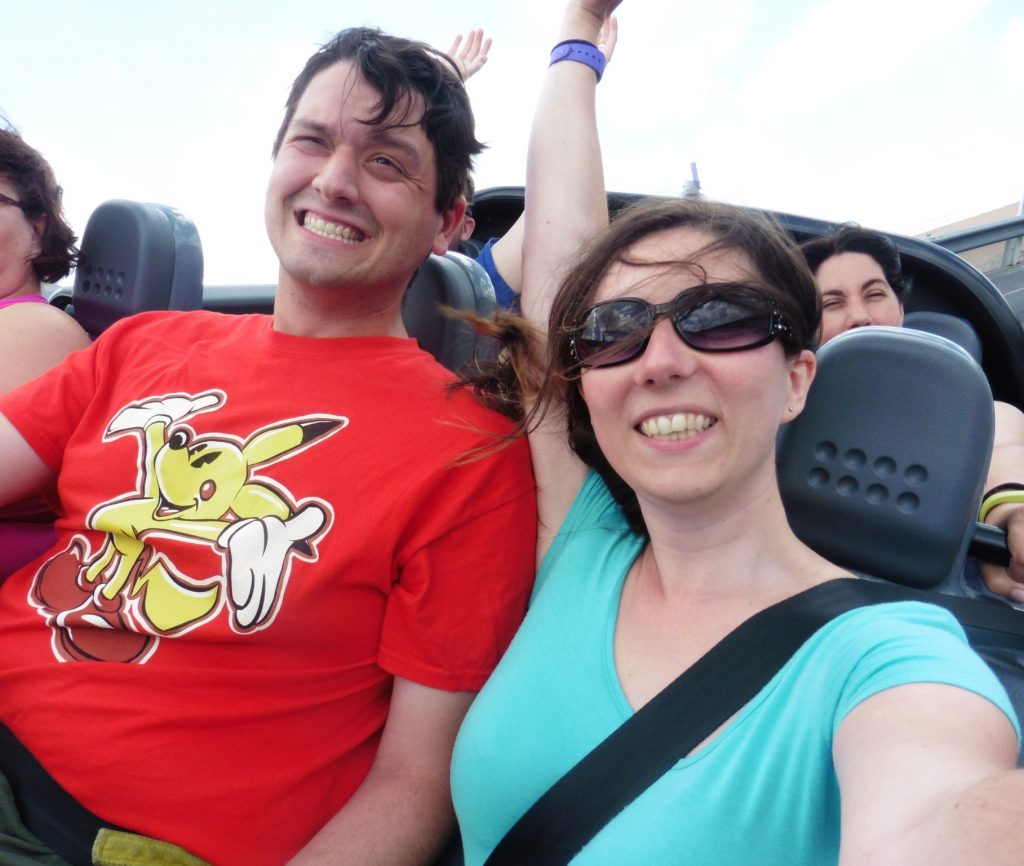 Riding Test Track at Epcot