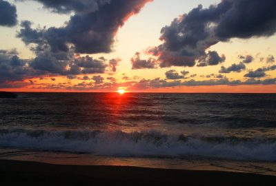 Sunset at Presque Isle State Park in Erie, PA - The fun side of business travel