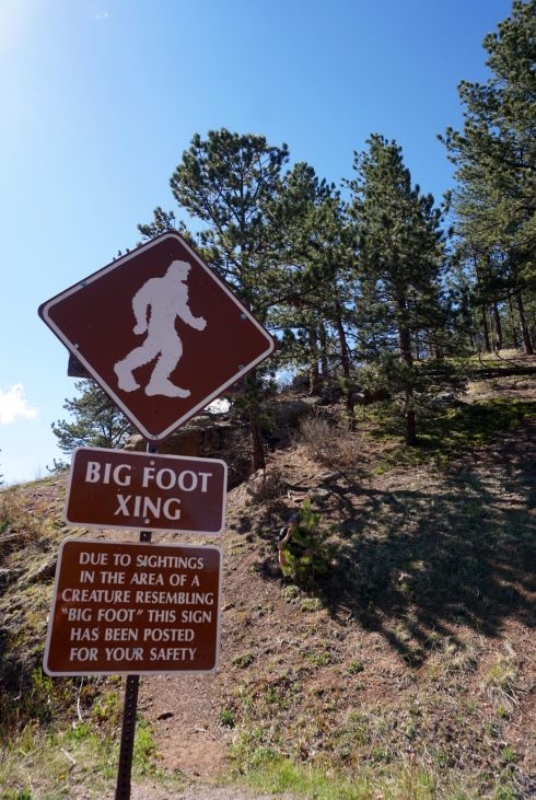 Big foot sign at Pikes Peak in Colorado Springs