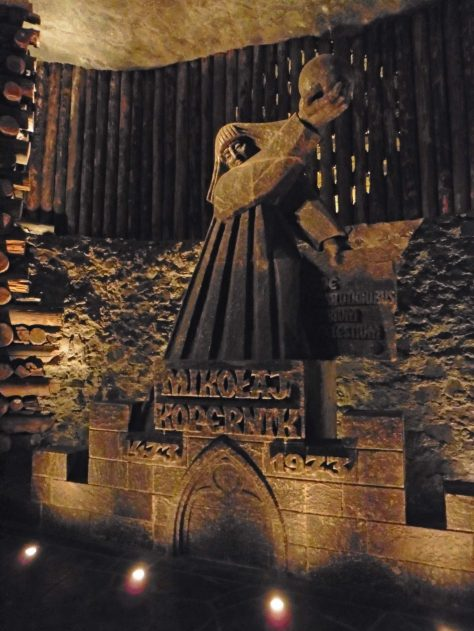Statue of Copernicus in the Wieliczka Salt Mine