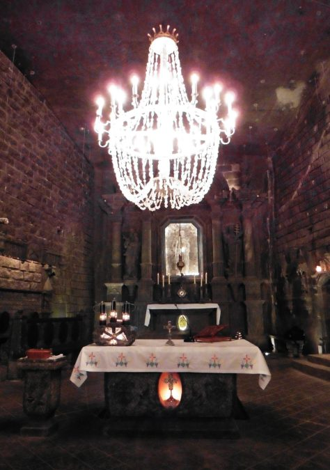 Altar in St. Kinga's Chapel in the Wieliczka Salt Mine