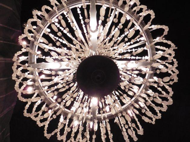 Salt crystal chandelier in the Wieliczka Salt Mine near Krakow, Poland