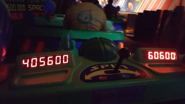 Buzz Lightyear's Space Ranger Spin scores at the Magic Kingdom