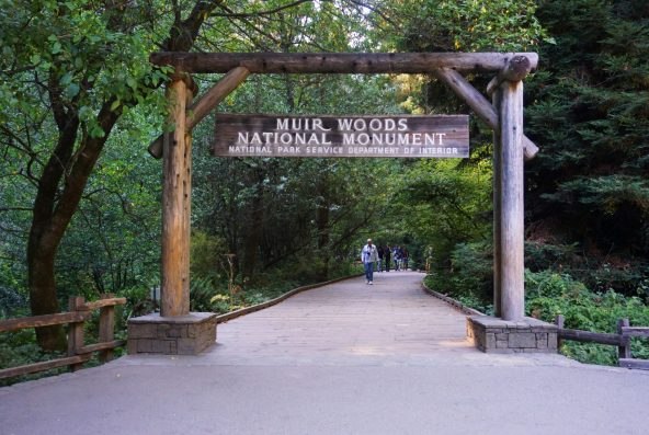 Entrance to Muir Woods National Monument