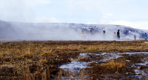 Geysir area along Iceland's Golden Circle