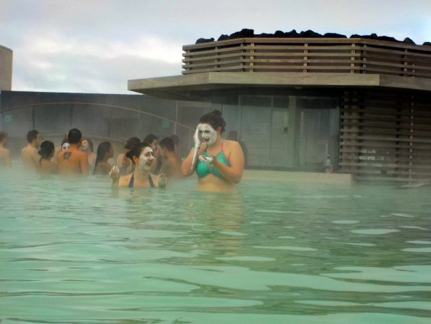 Face masks at the Blue Lagoon