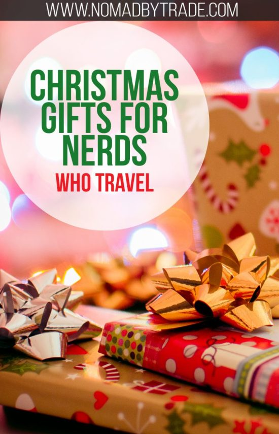 Find the best Christmas gifts for nerds who travel in this post. Featuring Star Wars, Star Trek, Harry Potter, Doctor Who, Game of Thrones, Lord of the Rings, and comic book favorites. #ChristmasGifts | #TravelGifts | #GiftGuide | #NerdGifts | #HarryPotter | #StarWars | #StarTrek | #DoctorWho | #Marvel | #DC | #LordOfTheRings