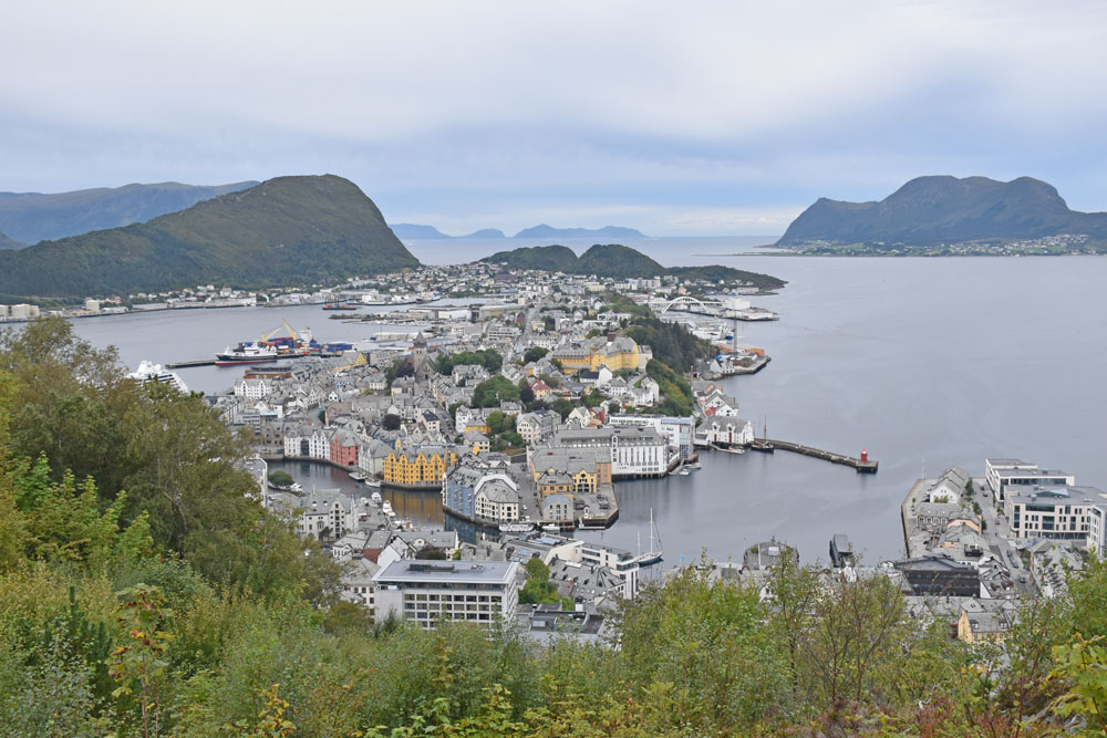 View of Alesund from the Aksla viewpoint