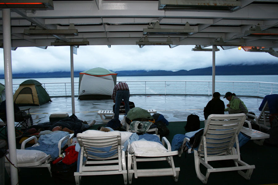 Passengers on the Alaska Ferry through the Inside Passage