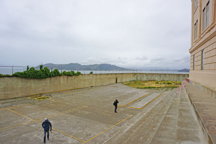 Prison recreation yard on Alcatraz