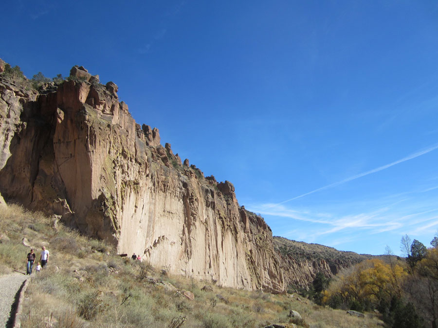 Cliffs in Bandelier National Monument