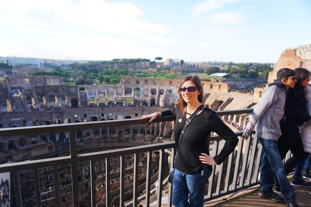 View from the fifth level of the Colosseum