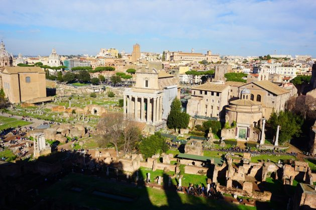 View of the Roman Forum from Palatine Hill