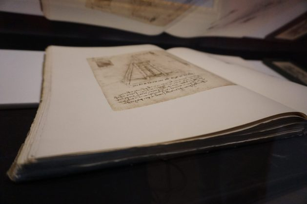 Manuscript at the Leonardo da Vinci Museum in Venice, Italy