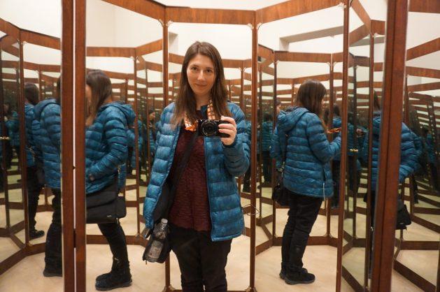 Mirrored room in the Leonardo da Vinci Museum in Venice, Italy