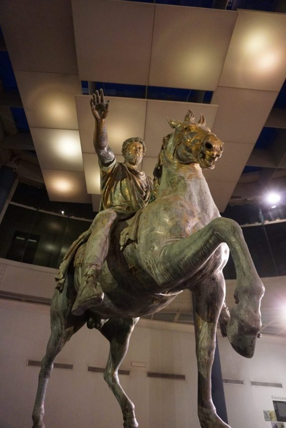Statue of Marcus Aurelius at the Musei Capitolini in Rome