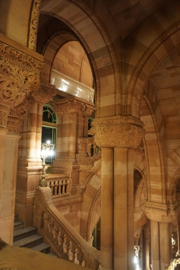 Great Western Staircase - touring the New York Capitol