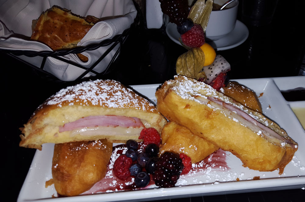 Monte Cristo sandwich at the Blue Bayou in Disneyland