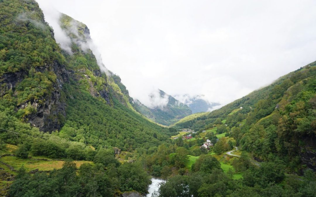 Valley viewed from the Flam Railway in Norway