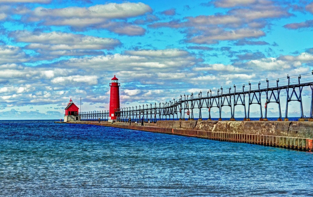 Beach at Grand Haven, Michigan - best beaches in Michigan